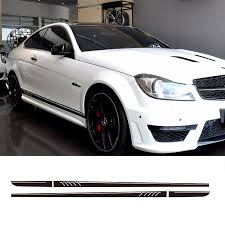 507 Style Side Skirt Racing Stripes Vinyl Decal Sticker For Mercedes Benz W204 S204 Coupe C63 Amg C180 C200 C230 C280 C300 C320 Vinyl Decals Stickers Decal Stickerracing Stripes Aliexpress