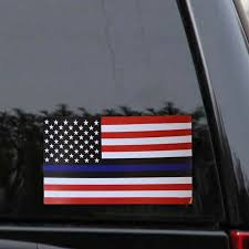 Car Truck Graphics Decals Auto Parts And Vehicles Blue Lives Matter Police Usa American Thin Blue Line Flag Car Decal Sticker Megeriancarpet Am