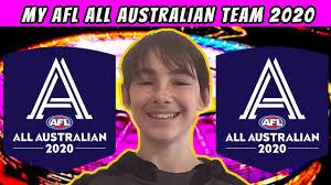 My AFL 2020 All Australian Team - YouTube