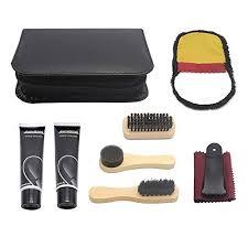 piece travel shoe shine brush kit