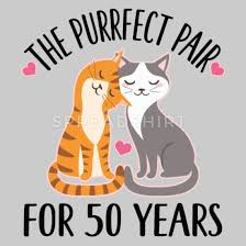 50th anniversary gift cat couple women