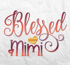 Blessed Mimi Svg Files For Cricut T Shirt Mom Tee Mug Cup Gift Word Sign Svg Files For Cricut