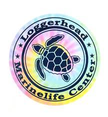 Pastel Tie Dye Turtle Decal Loggerhead Marinelife Center