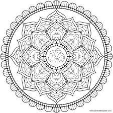 Lotus Om Mandala To Color Mandala Kleurplaten Kleurplaten Mandala