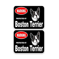 Yjzt 15 11 4cm 2x Boston Terrier Guard Dog Car Bumper Window Sticker Decal C1 4325 Shop The Nation