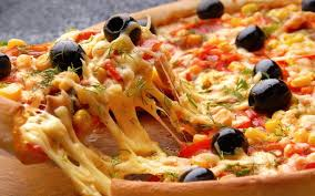 red and black pizza hd wallpaper