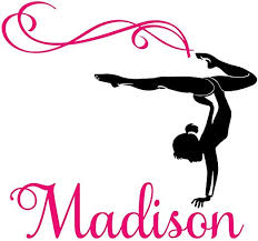 Amazon Com Personalized Girl Name Gymnast Gymnastics Dance Vinyl Wall Decal Sticker Room Large 31 X 28 Home Kitchen