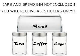 Tea Coffee Sugar Bread Jar Vinyl De Buy Online In Guernsey At Desertcart