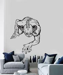 Wall Stickers Vinyl Decal Zombie Vampire Demon Scary Gothic Decor Z2130 Svgs And Image Files Vinyl Decals Wall Stickers Decals