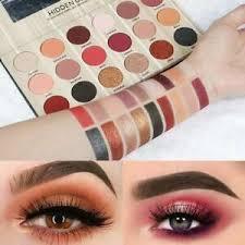 color glitter shimmer matte eye makeup