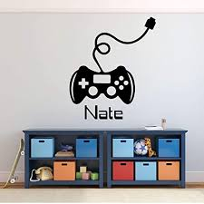Amazon Com Gamer Wall Decal Game Controller Sticker Personalized Vinyl Decoration For Boy S Bedroom Playroom Or Game Room Handmade