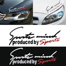 Sport Letter Car Stickers Decoration Emblem Badge Decal Auto Automobile Bonnet Sticker Car Styling For Audi Bmw Mercedes Benz Bestdealplus