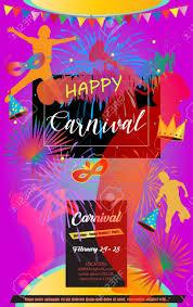 Carnaval Festival Cartel De Musica De La Mascarada Invitacion