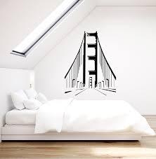 Vinyl Wall Decal Golden Gate Bridge Usa America Attractions California Wallstickers4you