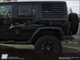 Jeep Wrangler Jk American Flag Side Window Decal Fits 2007 2018 Jk Importequipment
