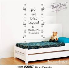 Growth Chart Wall Decal You Are Loved Nursery Or Child Room Decal Ephesians 3 19 By Signguysandgal Scripture Wall Decal Nursery Wall Decals Wall Growth Chart