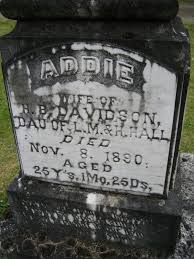 Addie Hall Davidson (1865-1890) - Find A Grave Memorial