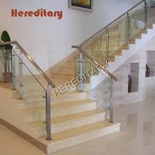 China Interior Stainless Steel Glass Railing Design For Stairs Hotel China Stair Railing Glass Railing
