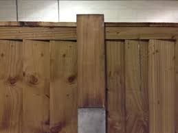 Timber Slotted Post Extender Front Concrete Fence Posts Fence Design Concrete Fence