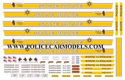Bill Bozo Illinois State Police Decals