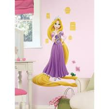 Disney Rapunzel Tangled Wall Stickers Glittery Mural 21 Decals Party Decoration Disney Princess Wall Decals Disney Princess Rapunzel Disney Princess Decals