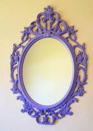 ikea filigree frame diy purple mirror