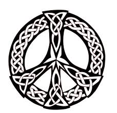 Celtic Peace Sign Knot Celtic Stickers Celtic Decals Etsy