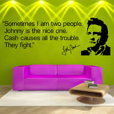 Johnny Cash Quote Vinyl Wall Art Sticker Room Decal Wall Quote Ebay