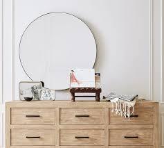 madalyn beveled round mirror pottery barn