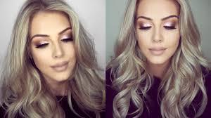 glitter eye makeup hair tutorial