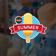 Hello Summer Ice Cream Retail Display Sign Removable Vinyl Etsy