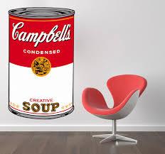 Warhol Campbell Soup Art Sticker Campbell Soup Art Sticker Art Kitchen Stickers