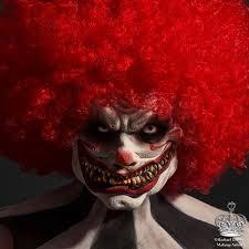 mr zeebo scary clown halloween makeup