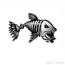 2020 Fish Skeleton Bones Skull Vinyl Decals Stickers Kayak Fishing Boat Car From Caishen666 9 05 Dhgate Com