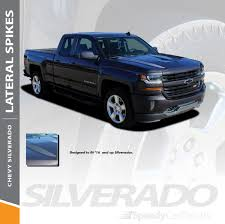 2018 Chevy Silverado Hood Graphics Lateral Spikes 2016 2018