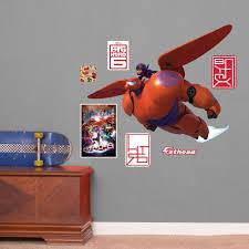 Fathead Junior Disney Big Hero 6 Baymax And Hiro Wall Decal Superhero Wall Stickers Childrens Wall Decals Wall Decals