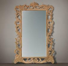 rococo carved vine pattern wood mirror