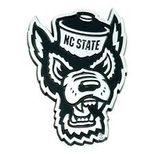 Ncaa Nc State Wolfpack University 3d Chrome Metal Emblem Target