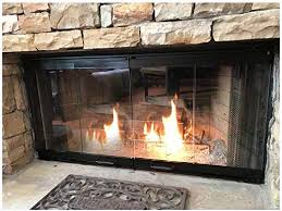 fireplace glass doors for heat n glo