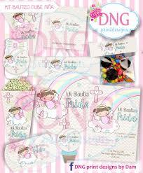 Kit Imprimible Bautizo Nina Nube Angelita Arcoiris Girl Bautizo