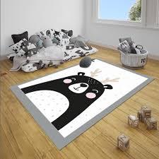 Else Gray White Black Deer Girl 3d Print Non Slip Microfiber Children Baby Kids Room Decorative Area Rug Mat Carpet Aliexpress