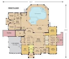 colored floor plan for residential