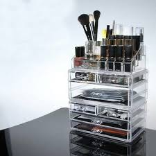 clear acrylic 7 drawer cosmetic makeup