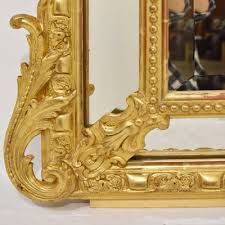 rectangular giltwood framed mirror