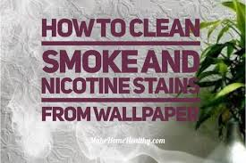 how to clean smoke and stains