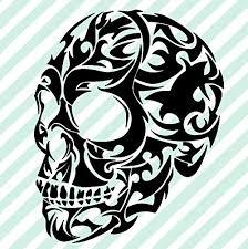 Amazon Com Tribal Skull Vinyl Decal Hawaiian Decal Maori Decals Handmade