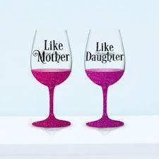 3 Sets Like Mother Like Daughter Wine Glass Decals V160 Diy Glittered Glass Ebay