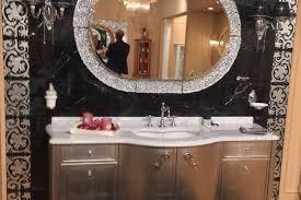 bathroom vanity mirror and cabinet set
