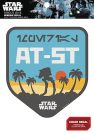 Star Wars Rogue One Window Decal At St On Scarif Badge Westfield Comics