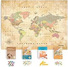 Amazon Com Corkboard World Map